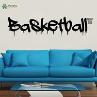 YOYOYU Wall Decal Basketball Sport Wall Sticker Quote Basketball For Bedroom Home Decoration Kids Modern Design Decor DIY ZW185
