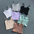 2016 NEW Fashion Sexy Women Bralette Bralet Bustier Crop Top Cami Tank Tops European style elasticity Sleeveless Vest 7color