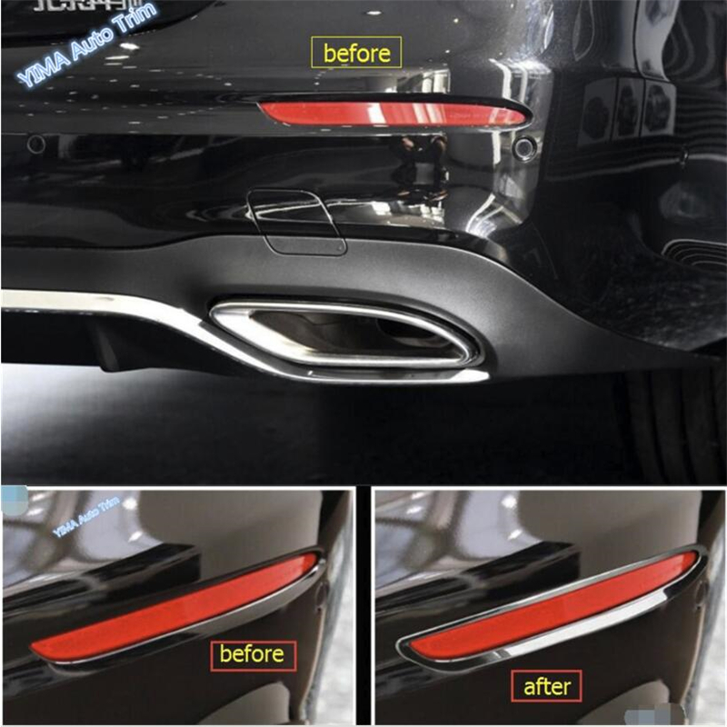 Lapetus ABS Chrome Rear Tail Fog Lights Lamps Cover Trim