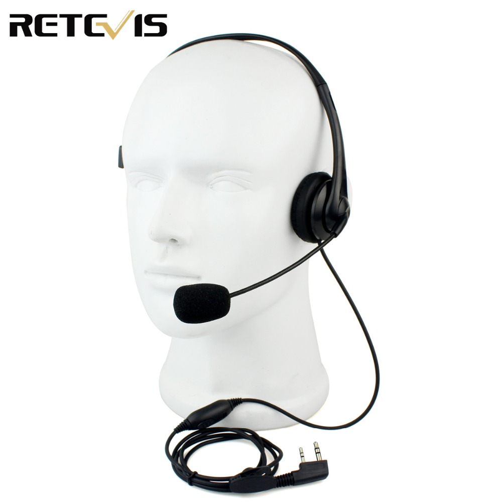 Retevis 2 Pin Headphone Headset TK220 For KENWOOD Baofeng UV-5R BF-888S Retevis H777 PUXING TYT Walkie Talkie C9009A