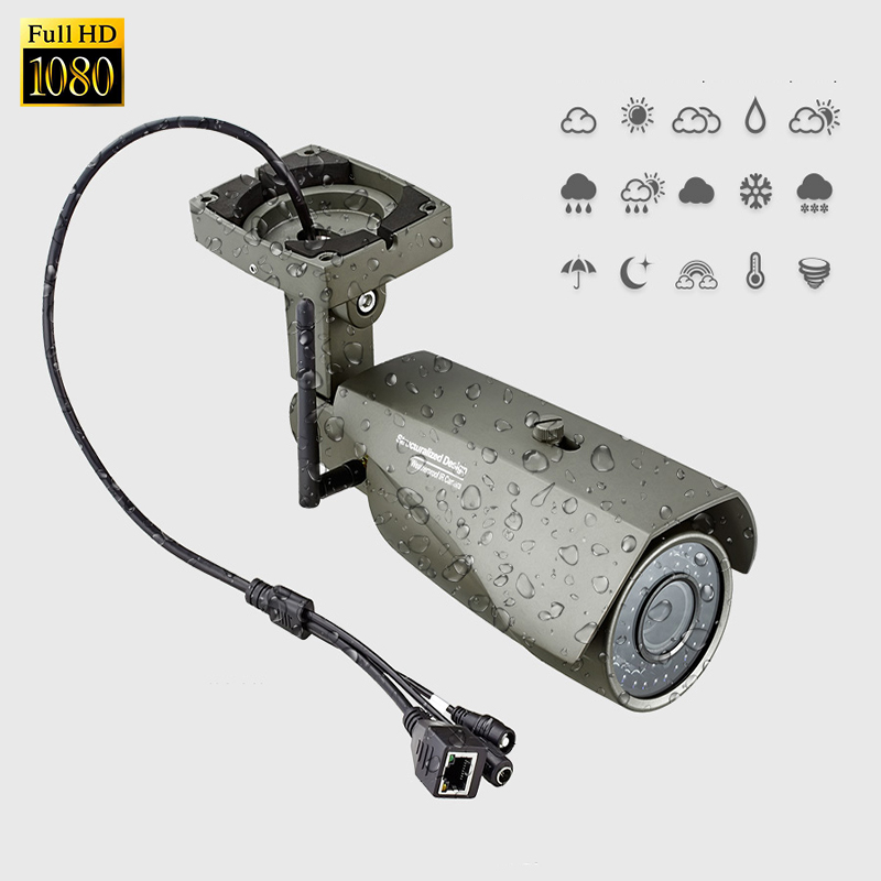 1080P FHD Outdoor IP66 Waterproof  WIFI IP Camera SD Slot Network Night Vision CCTV Security Metal Bracket Home Security  Camera wistino cctv camera metal housing outdoor use waterproof bullet casing for ip camera hot sale white color cover case
