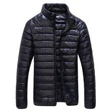 Ultralight Down Jacket Men Stand Collar Puffer Winter Warm T
