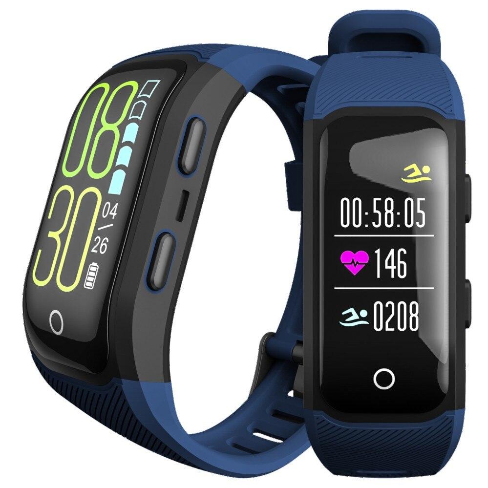 Activité Fitness podomètre moniteur intelligent IP68 GPS Tracker D 'eau moniteur de fréquence cardiaque Sport Fitness Bracelet de course