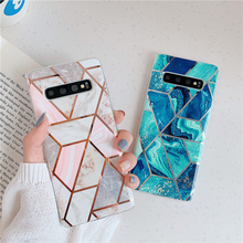 Luxury Plating marble Case For Samsung Galaxy S10 S10Plus S10e S8 S9 Plus for Samsung A40 A50 A70 soft tpu case back cover shockproof tpu hard pc case for samsung galaxy s10 plus s10e s10 5g s10plus cases dual hybrid back cover with bracket capa