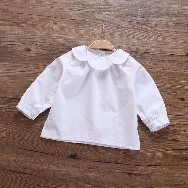 Девочка новый 2017 весной clothing рубашка кукла хлопок оказать подкладки верхней одежды осень шутник с длинным рукавом блузка