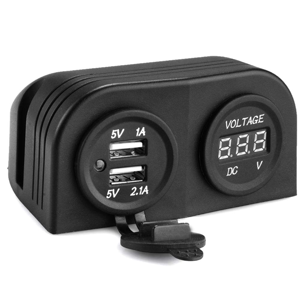 dewtreetali high quality 12v car suv cigarette lighter dual usb power plug socket watertight cap outlet [ 1024 x 1024 Pixel ]