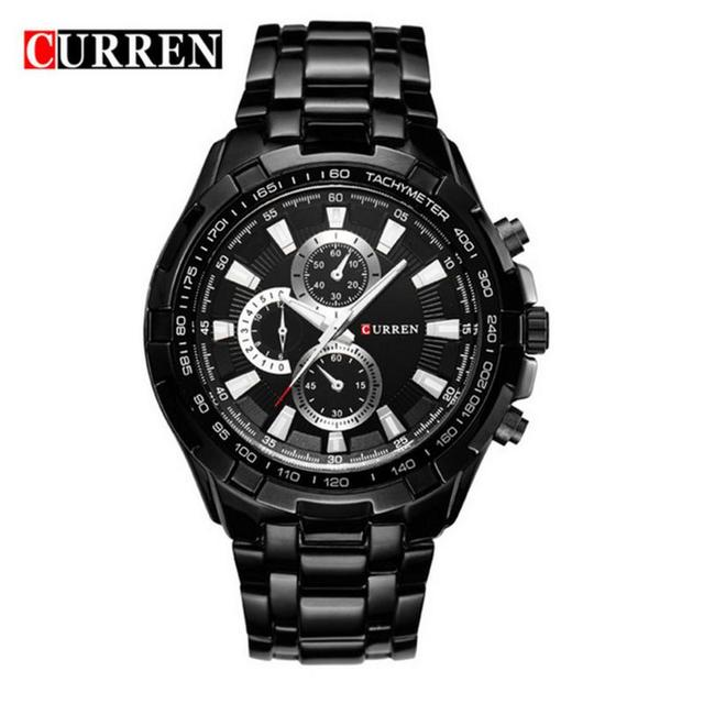 4f04c45c8d CURREN 8023 Men s Watch Trendy Luxury Stainless Steel Business Casual  Military Grade Waterproof Quartz Watch With A Steel Band