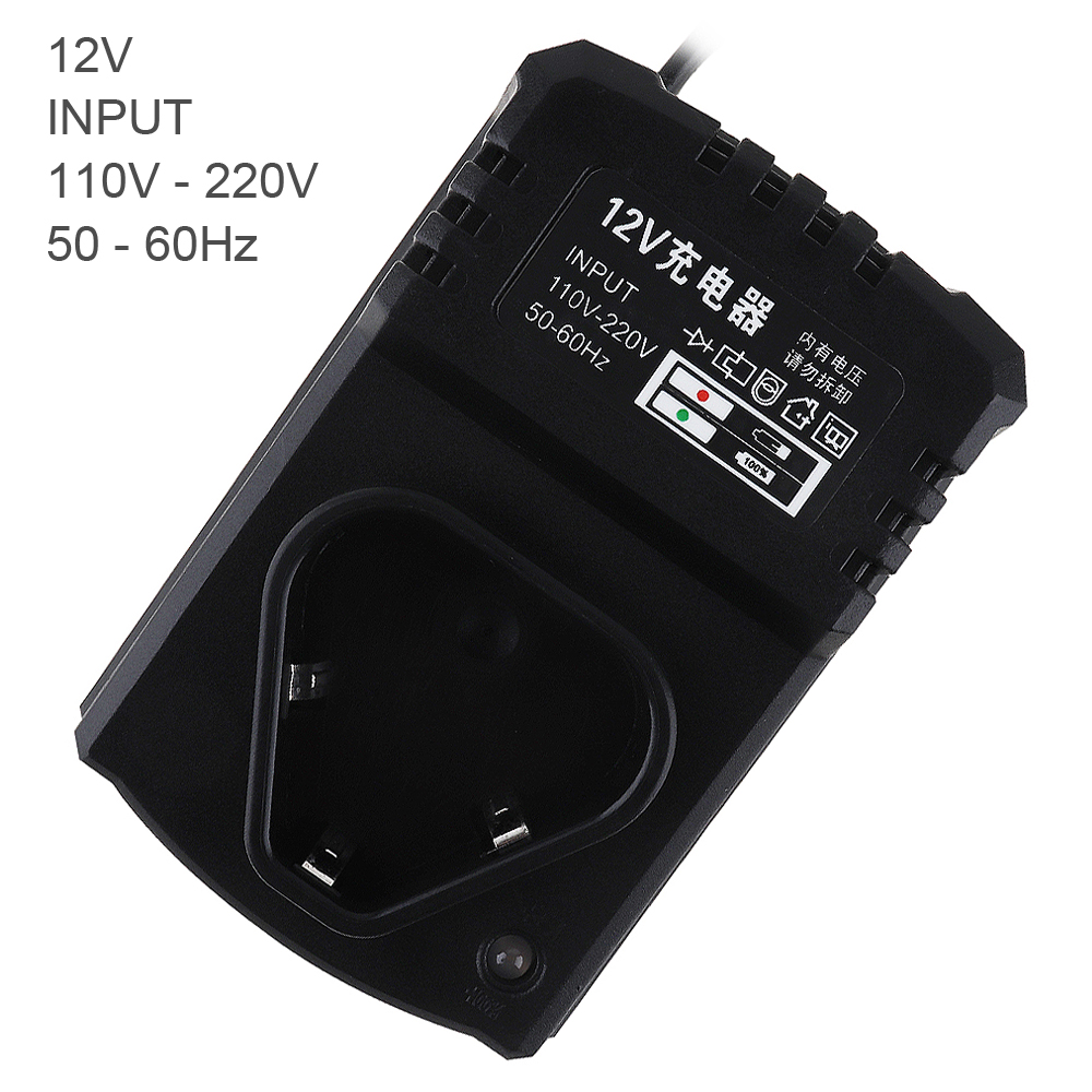 12V DC Multifunction Li-ion Rechargeable Charger Support 110-220V Power Source for Lithium Drill / Electrical Wrench 1p original 5a dc to dc cc cv lithium battery step down charging board led power converter lithium charger step down module for