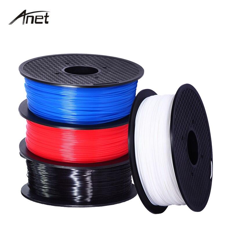 Anet PLA 1 Roll 1KG 3D Printer Filament 1.75mm Plastic Rubber Consumable PLA Filaments For Makerport RepRap i3 DIY Printing anet 340m 1 75mm pla 3d printing filament for 3d printer