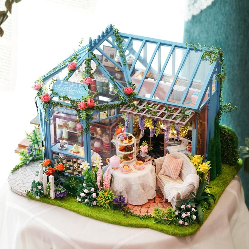 DIY Dollhouse Miniature Furniture 3D Doll House Kit Theater Box New Children Toy