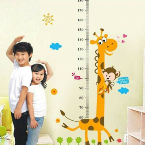 Removable Height Chart Measure Wall Sticker Decal for Kids Baby RoomZY