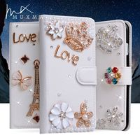 Rhinestone Case For Xiaomi Mi Max 2 Max2 Glitter Diamond Leather Cover Flip Wallet Crystal Flowers