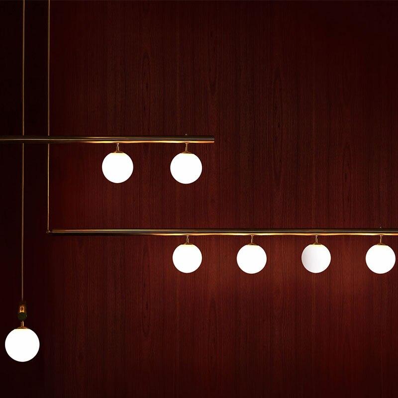 Lustres modernes italiens éclairage cuisine Bar Restaurant doré lustre Art décor nordique Design lustre suspension suspension lampe