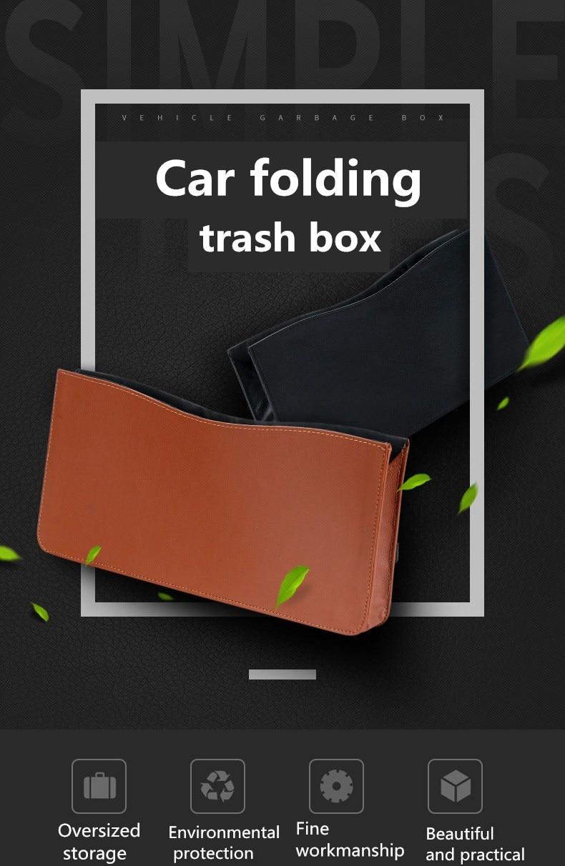 Waterproof Quality Leather Folding Car Seat Back Storage Bag