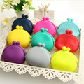 New Candy Color Round Coin Purse Women Friendly Silicone Key Bag Cute Rubber Package Wallet Kid Gift