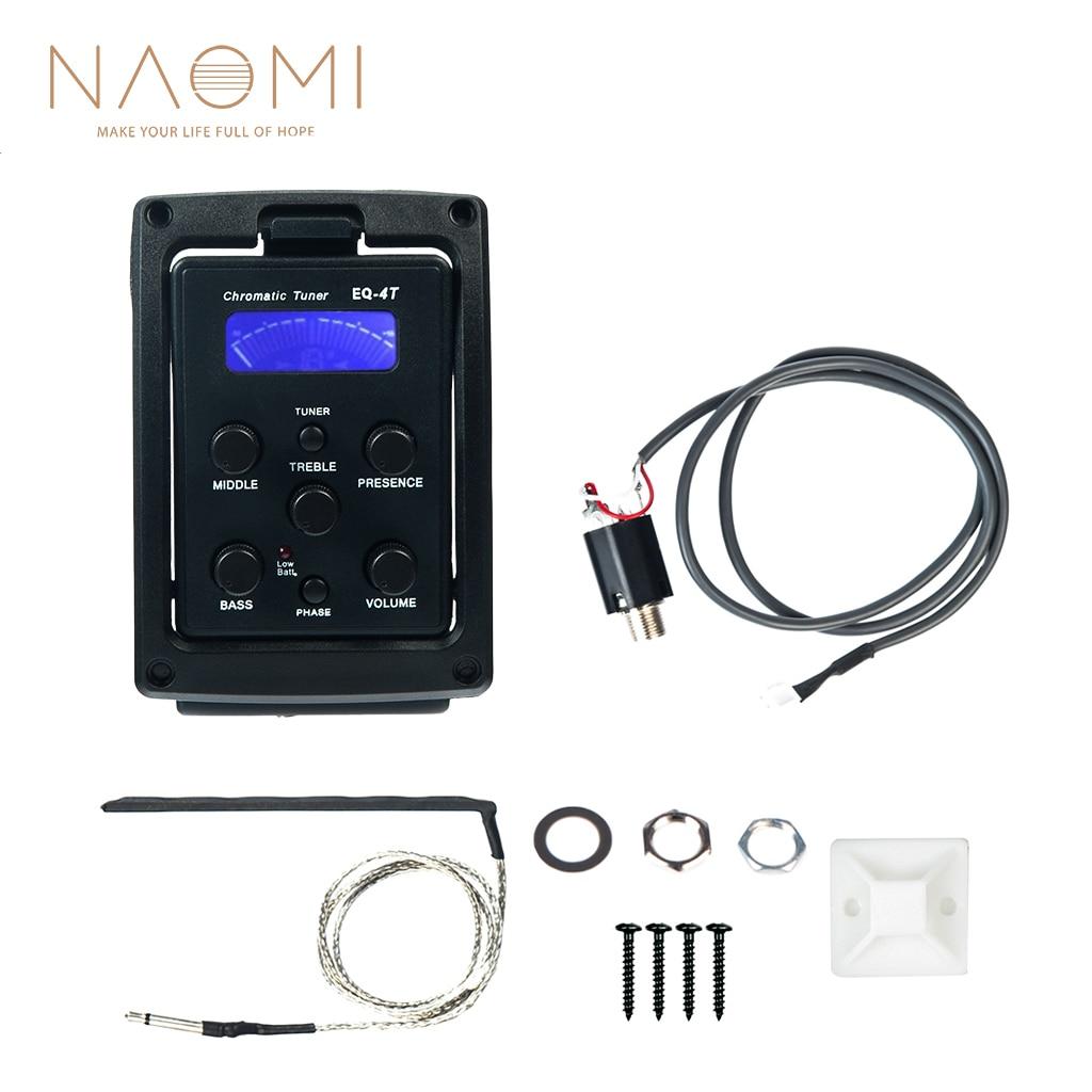 NAOMI EQ-4T 4 zespół odbioru EQ przedwzmacniacz z tunerem do gitary akustycznej