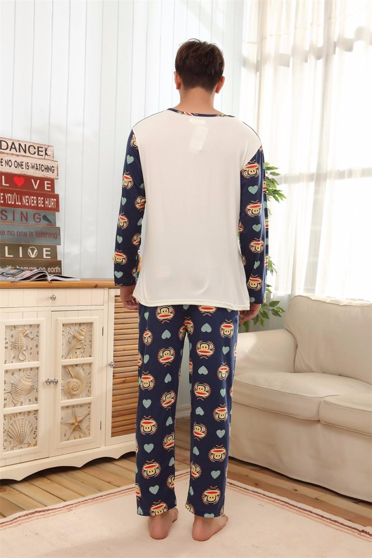 65abb5e270 Spring + Autumn Lovers Long sleeved 1314 Pajamas Cartoon Couple Cute ...