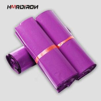 HARD IRON 100 sztuk 8x13.5 cal 20x34 cm różowy kolor koperta torebki wysyłkowe z tworzywa sztucznego po woreczki kuriera mailer Express torby