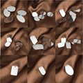 AWAYTR 2016 Fashion 5Pcs/lot Silver Stainless Steel Elliptical Square Round Smooth Pendant DIY Jewelry Findings Wholesale