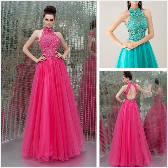New Classy Ball Gown Features Lace Applique Turtle neck Bodice ...