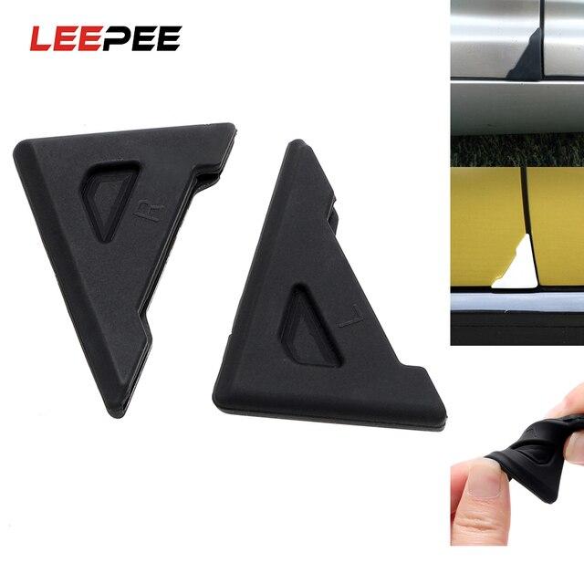 LEEPEE funda de silicona para esquina de puerta de coche, Protector antiarañazos, protección contra choques, cuidado automático, 2 piezas