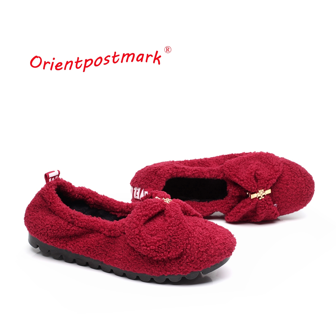 Women Shoes Ballet Flats Adult Coral Velvet Shoes Women's Pregnant Flat Shoes Boat Shoes Women Soft Bottom Soft Surface vintage embroidery women flats chinese floral canvas embroidered shoes national old beijing cloth single dance soft flats