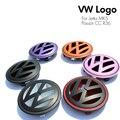 VW Emblema Logotipo Do Sinal Emblema Mark Cor Da Grade Dianteira do Carro Tampa Traseira porta traseira para volkswagen golf 5 passat cc r36 jetta mk5 v Styling