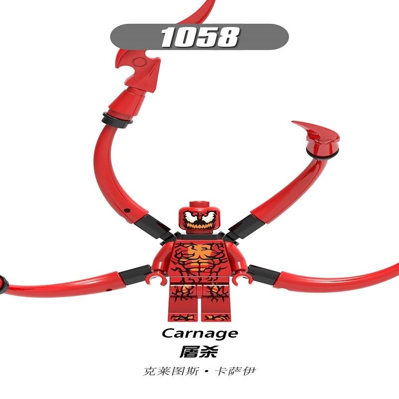 Legoings Figures Building Blocks Eddie Brock Riot Female Venom Carnage Bricks Ninjagoed Bricks Dolls Toys For Children X0231