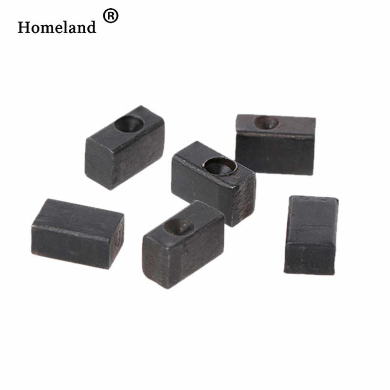 Guitar Bridge Accessories 6 Pcs Electric Guitar Tremolo Bridge Saddle Clamp Locking String Insert Block