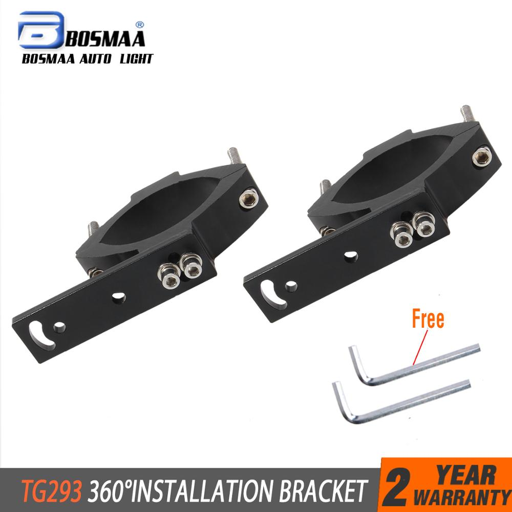 BOSMAA TG293/TG27 Motorcycle LED Headlight Tube Fork Bracket For Cafe Racer Chopper Motorcycle Hunting Lamp Clamp Holder 50-69mm