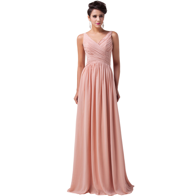 Elegant Evening Dress Long Grace Karin Empire Chiffon Sleeveless Mother Of  The Bride Women Formal Party Dresses Ball Gowns 6010 1dfe6e995b67