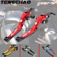 Laser Logo(YZF R1) 20 Colors CNC Folding Motorcycle Accessories Brake Clutch Levers For Yamaha YZF R1 2004 2005 2006 2007 2008