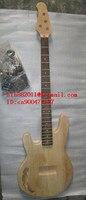 送料無料未完4弦左手エレクトリックベースギターで黒ハードウェアwithour塗料で自然な色+泡ボック