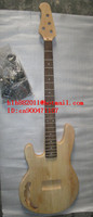 BEZPŁATNA WYSYŁKA NIEDOKOŃCZONE 4 left hand electric bass guitar strings z czarnym sprzętu withour farby w kolorze naturalnym + pianki box