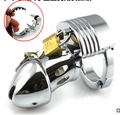 Newest! Top Quality Multifunction Adjustable Size Male Chastity Lock,Cock Cage,Men's Virginity Lock,Penis Ring,Cock Ring