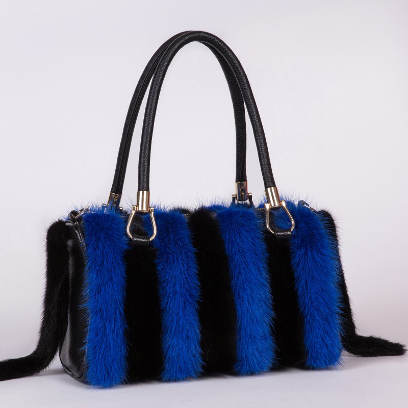 2019 New Arrival Women Real Mink Fur Bag Messenger Bags Female Real Fur Handbag Real Fur Bag Ladies Crossbody Winter Section Bag
