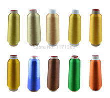 Big cone, 5PCS/Lot metallic embroidery thread, 20colors optional Metallic yarn,for machine Shipping free