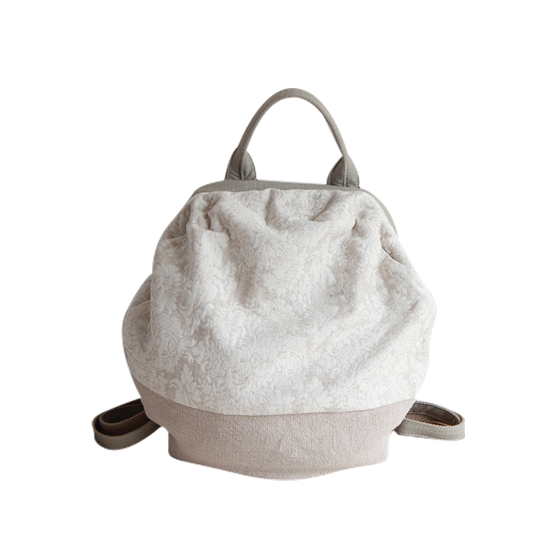 women cotton backpack casual vintage backpacks ladies handmade bags all match little bags girl linen cloth