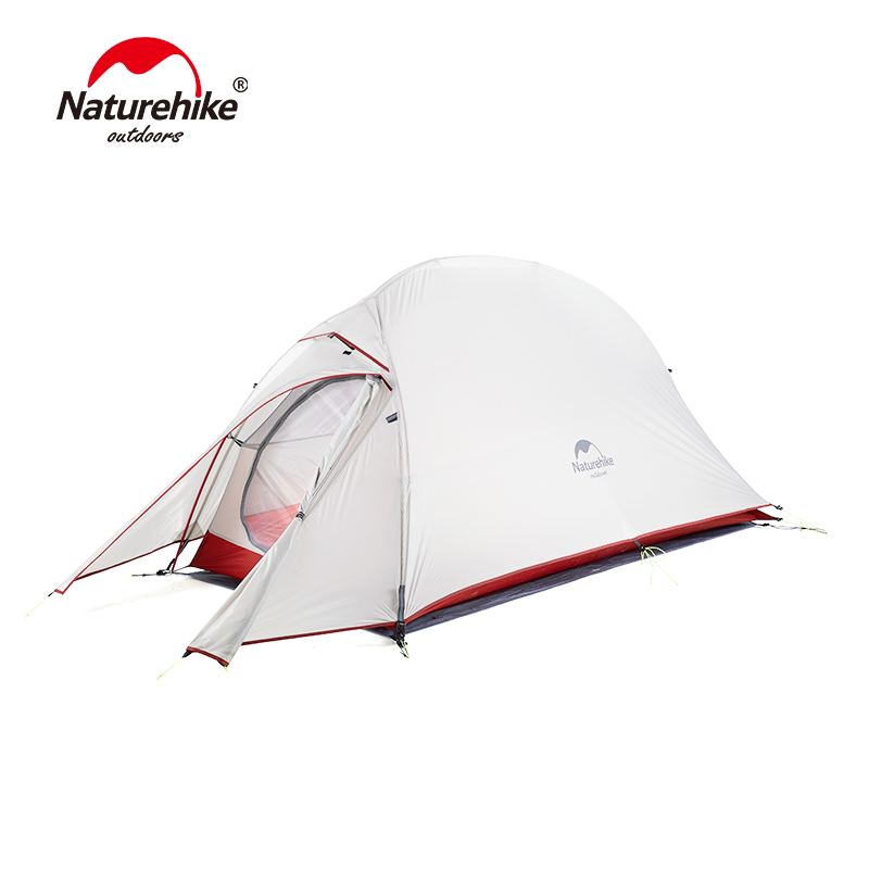 Naturehike 2018 Updated Version Cloud Up 1 Single Person Tent Outdoor Ultralight Camp Tents Hiking 210T/20D With Free Mat naturehike cloud up series 1 2 3 person camping tent outdoor ultralight camp hiking waterproof tent with free mat