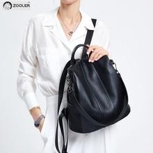 Купить с кэшбэком ZOOLER genuine Leather backpacks travel bags women 2019 new soft backpack for girl high quality luxury travel bag Bolsas#Z176