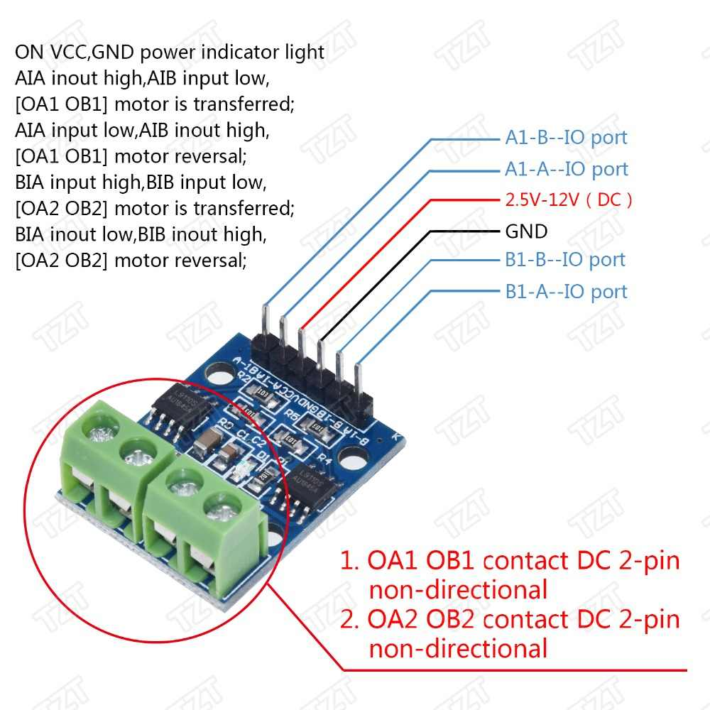 L9110S h-bridge moteur pas à pas double moteur pas à pas cc pilote contrôleur carte Module L9110S L9110 pour Arduino