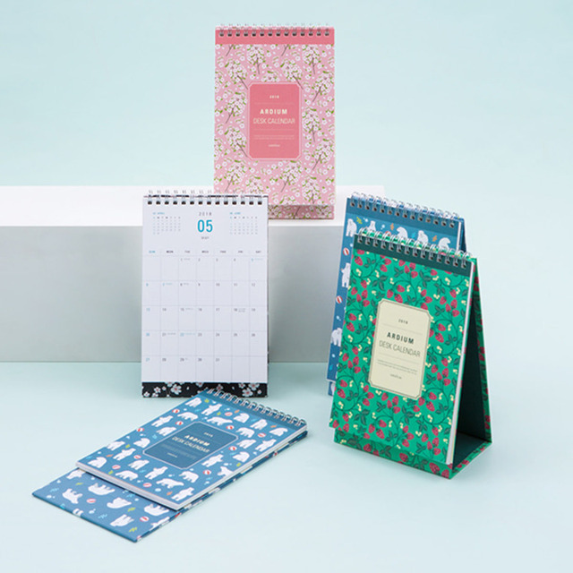 2018 floral calendar mini desk monthly planner 125197cm 32p korean fashion stationery