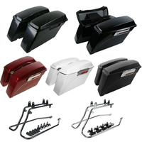 Motorcycle Hard Saddlebags Conversion Bracket Mounts For Harley Softail Fatboy Heritage 1986 2013
