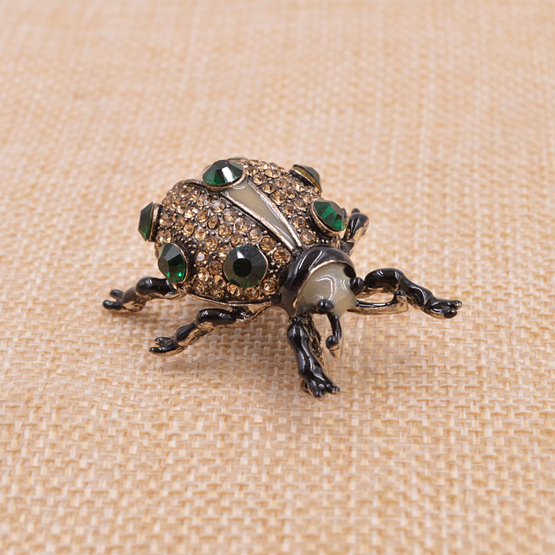 CINKILE 3 Colors Available Rhinestone Beetle Brooches for Women and Men Vivid Insect Brooch Pin Party Accessories Good Gift in Brooches from Jewelry Accessories