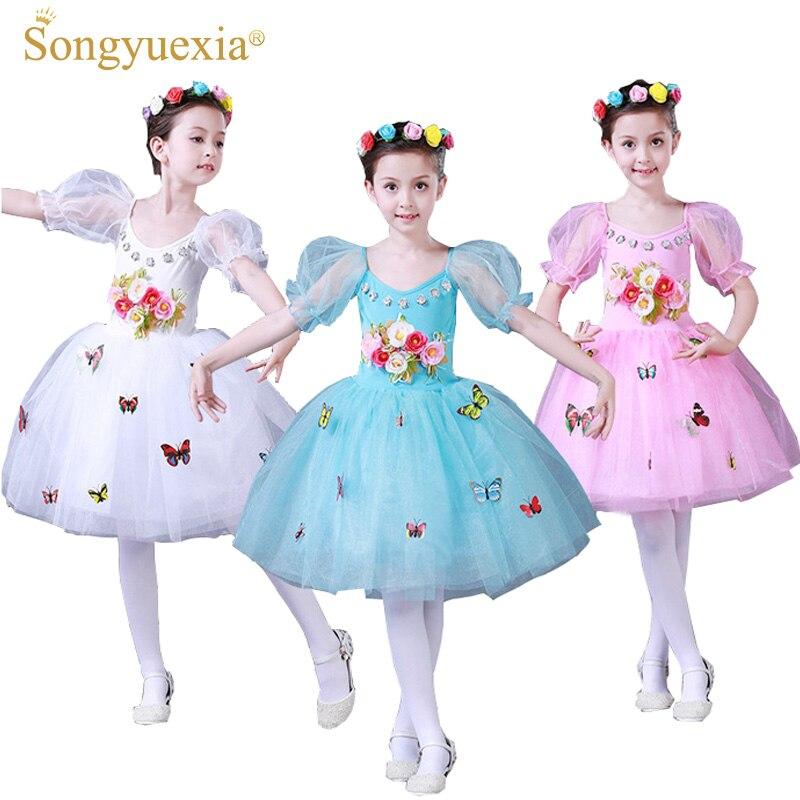 SONGYUEXIA Kinderen Ballet Moderne dansjurk Dikke en ongeordende - Nieuwe items