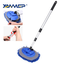 Car Wash Brush Cleaning Mop Chenille Broom Telescoping Long Handle Car Cleaning Brush Car Accessories Car Cleaning Tools Xammep(China)