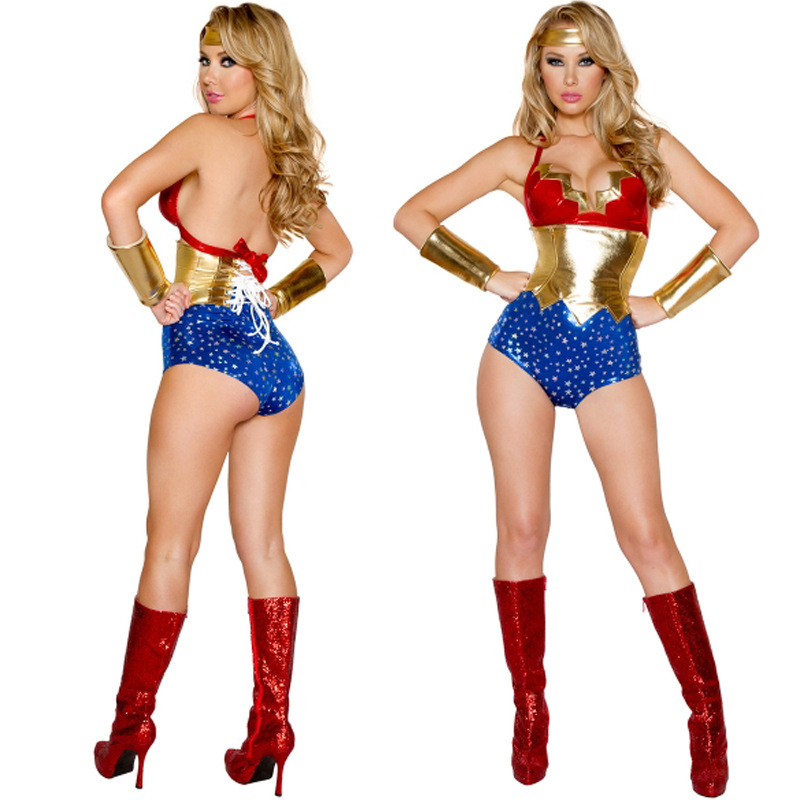Wonder Woman Costume With Sleeves