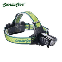 8000LM 3X T6 LED USB Headlamp Zoomable 4 Modes Cycling Flashlight Torch 18650 battery