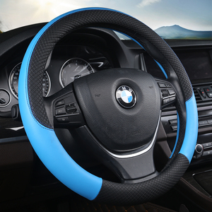 Image 5 - Sport Auto Steering Wheel Covers Automotive Accessories Universal 38CM Car Steering wheel Cover Anti Slip Car styling