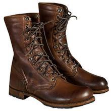 Модные мужские мотоциклетные ботинки с заклепками, мужские армейские ботинки в стиле панк, готика, байкерские мужские туфли ПУ размера плюс 48